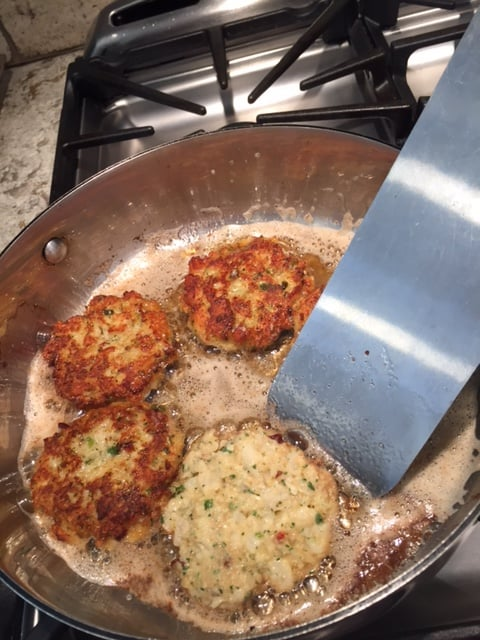 Fish Cakes Made With Sacalait  (Crappie or White Perch)