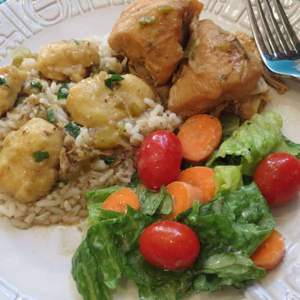 Chicken Fricassee With Dumpings