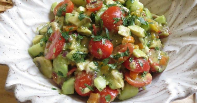 Avocado Salad with Cilantro Lime Vinaigrette