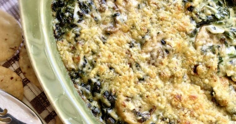 Creamed Spinach With Mushrooms