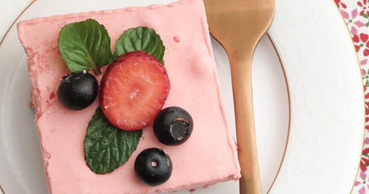 Keto Strawberry Jello Dessert